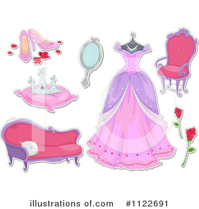 Royalty-Free (RF) Princess Clipart Illustration by BNP Design Studio - Stock Sample #1122691