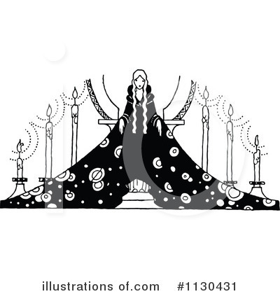 Royalty-Free (RF) Princess Clipart Illustration by Prawny Vintage - Stock Sample #1130431