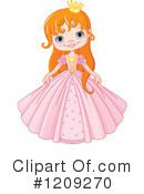 Princess Clipart #1209270 by Pushkin