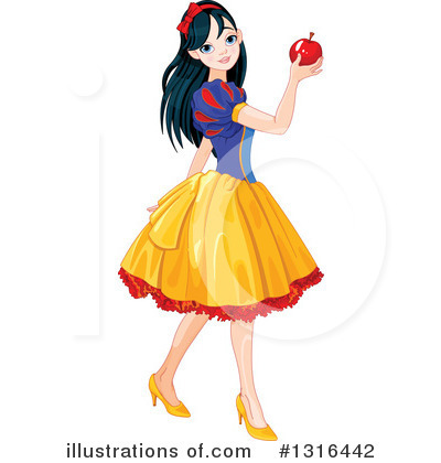 Snow White Clipart #1316442 by Pushkin
