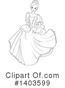 Princess Clipart #1403599 by Pushkin