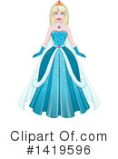 Royalty-Free (RF) Princess Clipart Illustration #1419596