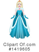 Royalty-Free (RF) Princess Clipart Illustration #1419605