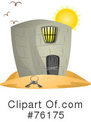 Royalty-Free (RF) Prison Clipart Illustration #76175