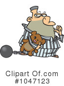 Royalty-Free (RF) Prisoner Clipart Illustration #1047123