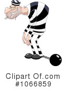 Royalty-Free (RF) Prisoner Clipart Illustration #1066859