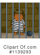 Royalty-Free (RF) Prisoner Clipart Illustration #1139293