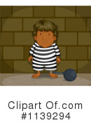 Royalty-Free (RF) Prisoner Clipart Illustration #1139294