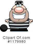 Royalty-Free (RF) Prisoner Clipart Illustration #1179980