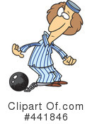 Royalty-Free (RF) Prisoner Clipart Illustration #441846