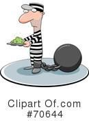 Royalty-Free (RF) Prisoner Clipart Illustration #70644
