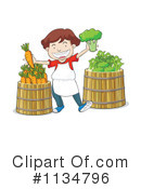 Produce Clipart #1134796 by Graphics RF