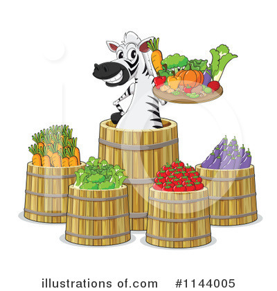 Zebra Clipart #1144005 by Graphics RF