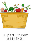 Royalty-Free (RF) Produce Clipart Illustration #1145421