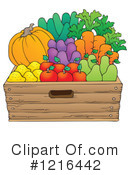 Royalty-Free (RF) Produce Clipart Illustration #1216442