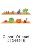 Royalty-Free (RF) Produce Clipart Illustration #1244918