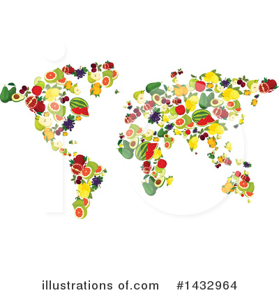 Map Clipart #1432964 by Vector Tradition SM