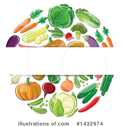 Zucchini Clipart #1432974 by Vector Tradition SM