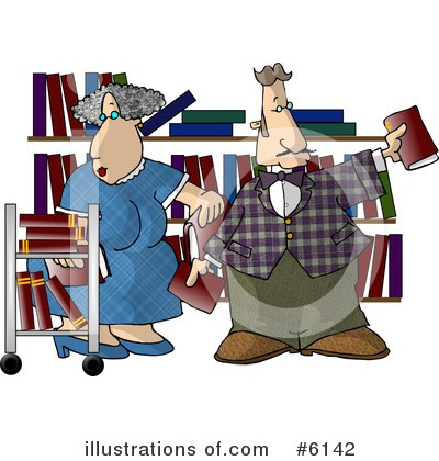 Librarian Clipart #6142 by djart