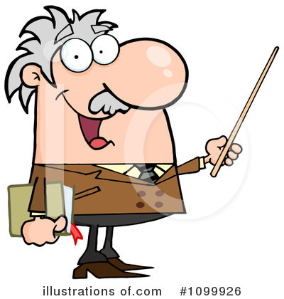 Royalty-Free (RF) Professor Clipart Illustration by Hit Toon - Stock Sample #1099926