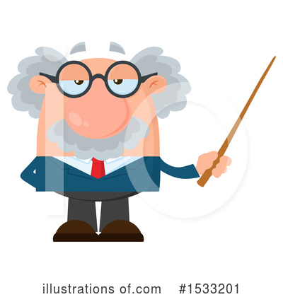 Royalty-Free (RF) Professor Clipart Illustration by Hit Toon - Stock Sample #1533201