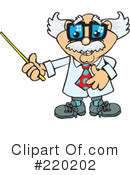 Royalty-Free (RF) Professor Clipart Illustration #220202