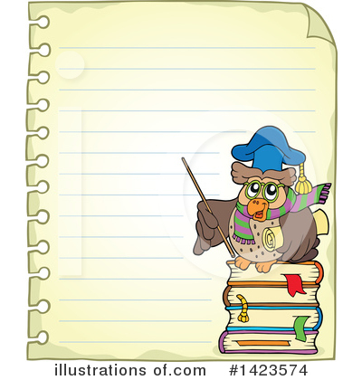 Royalty-Free (RF) Professor Owl Clipart Illustration by visekart - Stock Sample #1423574