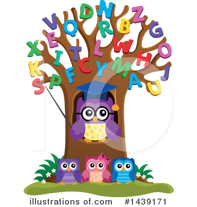 Professor Owl Clipart #1439171 by visekart