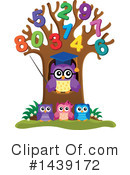 Royalty-Free (RF) Professor Owl Clipart Illustration #1439172