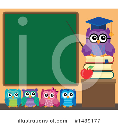 Royalty-Free (RF) Professor Owl Clipart Illustration by visekart - Stock Sample #1439177