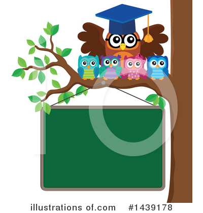 Royalty-Free (RF) Professor Owl Clipart Illustration by visekart - Stock Sample #1439178