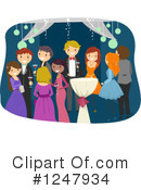 Royalty-Free (RF) Prom Clipart Illustration #1247934
