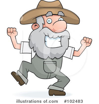 Prospector Clipart #102483 by Cory Thoman