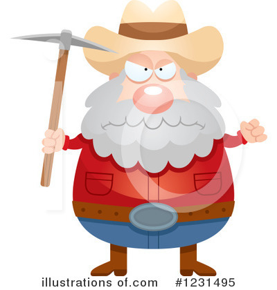 Prospector Clipart #1231495 by Cory Thoman
