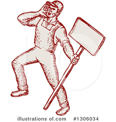 Protestor Clipart #1306034 by patrimonio
