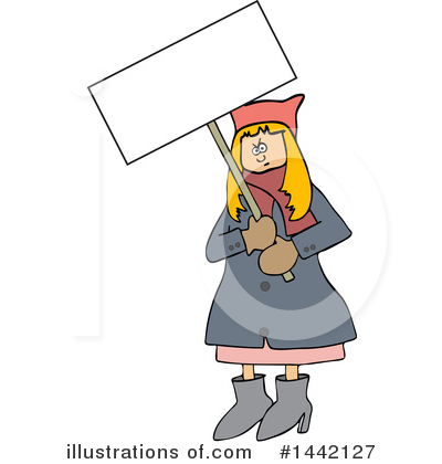 Royalty-Free (RF) Protestor Clipart Illustration by djart - Stock Sample #1442127