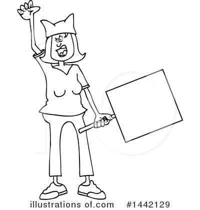Protestor Clipart #1442129 by djart