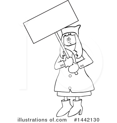Protestor Clipart #1442130 by djart