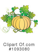 Royalty-Free (RF) Pumpkin Clipart Illustration #1093080