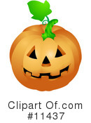 Pumpkin Clipart #11437 by AtStockIllustration