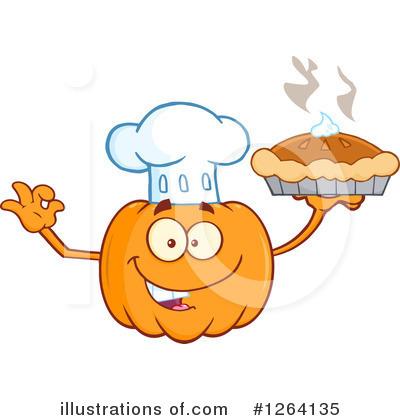Royalty-Free (RF) Pumpkin Clipart Illustration by Hit Toon - Stock Sample #1264135