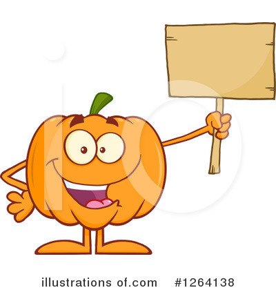 Royalty-Free (RF) Pumpkin Clipart Illustration by Hit Toon - Stock Sample #1264138