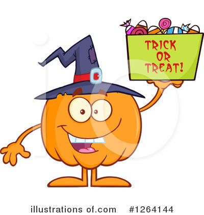 Royalty-Free (RF) Pumpkin Clipart Illustration by Hit Toon - Stock Sample #1264144