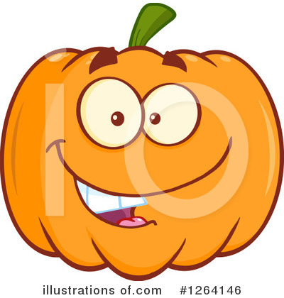 Pumpkin Clipart #1264146 by Hit Toon