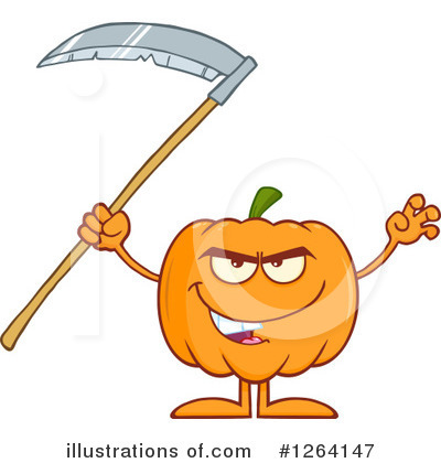 Pumpkin Clipart #1264147 by Hit Toon