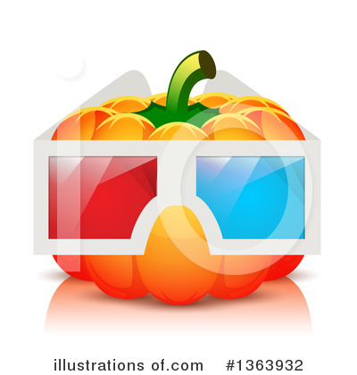 3d Glasses Clipart #1363932 by vectorace