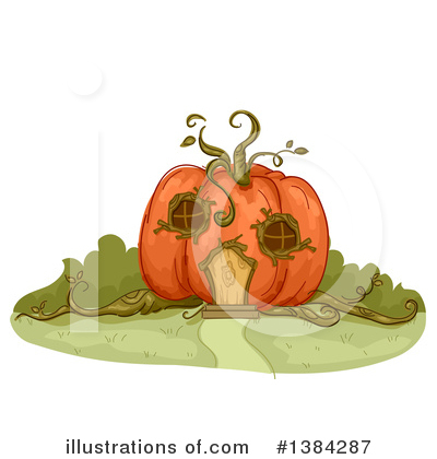 Royalty-Free (RF) Pumpkin Clipart Illustration by BNP Design Studio - Stock Sample #1384287