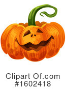 Pumpkin Clipart #1602418 by Vector Tradition SM