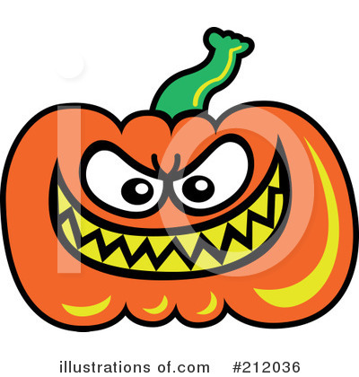 Royalty-Free (RF) Pumpkin Clipart Illustration by Zooco - Stock Sample #212036