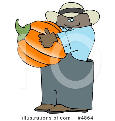 Royalty-Free (RF) Pumpkin Clipart Illustration by djart - Stock Sample #4864